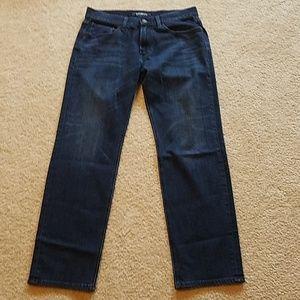 Express men's slim straight jeans